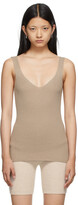 Thumbnail for your product : Arch4 Beige Apple Ford Rib Tank Top
