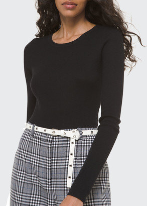 Michael Kors Collection Cashmere Ribbed-Knit Sweater