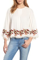 Velvet by Graham & Spencer Women's Embroidered Swing Blouse
