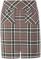 Dorothy Perkins Grey And Red Check A-Line Skirt