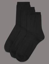 Autograph 3 Pair Pack Body SensorTM Ankle High Socks