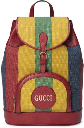Gucci Baiadera stripe backpack