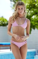 La Hearts Loop Through Strappy Fixed Triangle Bikini Top