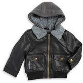 London Fog Boys 2-7 Sherpa Lined Leatherette Jacket