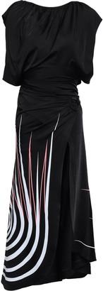 Paco Rabanne Wrap-effect Printed Stretch-jersey Midi Dress