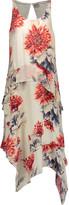 Haute Hippie Ruffled floral-print silk crepe de chine midi dress