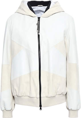 Brunello Cucinelli Two-tone Leather Hooded Jacket
