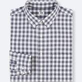 Uniqlo Men's Extra Fine Cotton Checked Long-sleeve Shirt