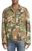 R 13 Men's Misfit Patch Camo Field Jacket