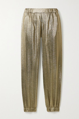 Saint Laurent Lurex Track Pants - Gold