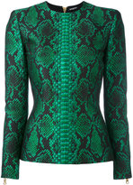 Balmain printed top - women - Cotton/Polyester/Viscose/Polyimide - 36