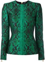 Balmain printed top - women - Polyester/Polyimide/Viscose/Cotton - 36