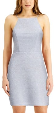 City Studios Juniors' High-Neck Triple-Bow-Back Dress