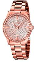 Lotus Women's Quartz Watch with Rose Gold Dial Analogue Display and Stainless Steel Rose Gold Plated Bracelet 18136/1