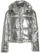 MSGM Quilted Metallic Down Jacket