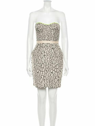 Matthew Williamson Printed Mini Dress w/ Tags Brown