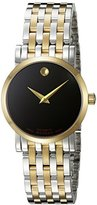 Movado Women's Swiss Automatic and Stainless Steel Casual Watch, Color:Two Tone (Model: 0607011)