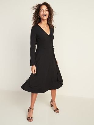 Old Navy Waist-Defined Faux-Wrap Jersey Midi for Women