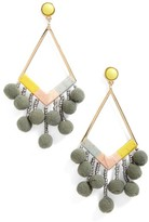 BaubleBar Women's Geo Drop Earrings