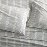 Crate & Barrel Bennett Grey Sheets and Pillow Cases