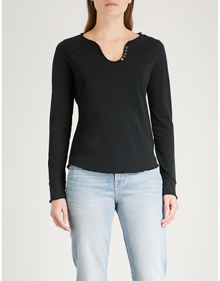 Zadig & Voltaire Tunisien cotton-jersey top