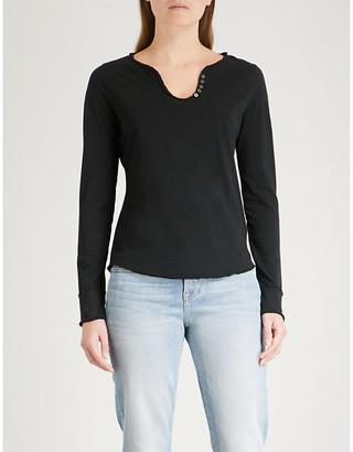 Zadig & Voltaire Tunisien cotton-jersey top