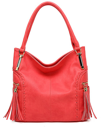 MKF Collection by Mia K. Women's Hobos - Pink Weave Arch Tassel Hobo