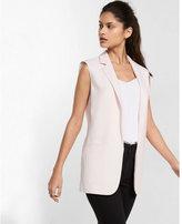 Express sleeveless notch collar boyfriend jacket