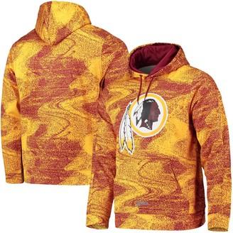 Redskins Unbranded Men's Zubaz Burgundy/Gold Washington Static Pullover Hoodie