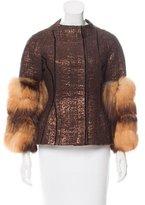 J. Mendel Brocade Fur-Trimmed Jacket