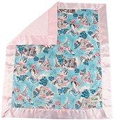 "MyBlankee My Blankee Paris Minky Pink w/ Minky Dot Pink Baby Blanket, 30"" x 35"""