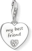 Thomas Sabo Charm club silver and diamond best friend charm