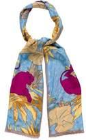 Oscar de la Renta Printed Silk Scarf