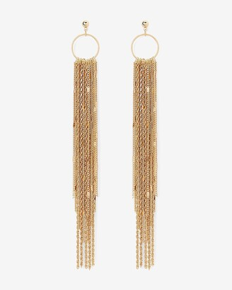 Express Layered Linear Chain Earrings