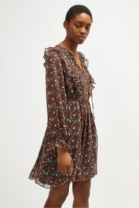 French Connection Eden Georgette Belted Dress