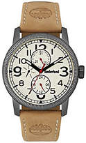 Timberland Men's Stainless Brown Leather Watch
