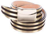 Isabel Marant Striped Metallic Belt