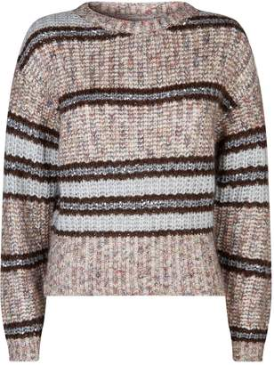 Brunello Cucinelli Sequin Embellished Chunky Knit Sweater