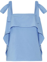Paul & Joe Layered Cotton-blend Poplin Top - Blue