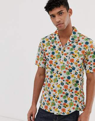 Pretty Green short sleeve floral print shirt in multi