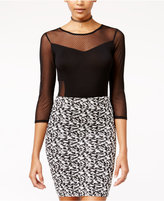 Material Girl Juniors' Illusion Dot Bodysuit, Only at Macy's