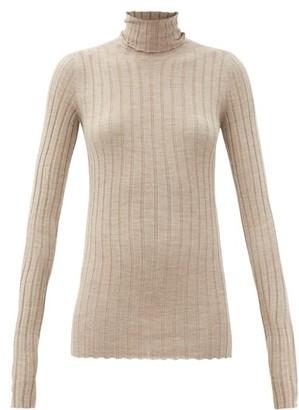 Petar Petrov Karen Roll-neck Merino-wool Sweater - Brown
