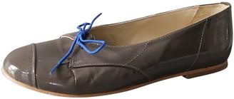 Stine Goya Grey Patent leather Flats