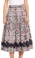 Tomas Maier Sevilla Printed Circle Skirt