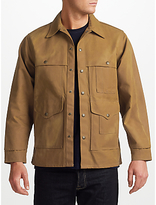 Filson Tin Cloth Cruiser Jacket, Dark Tan