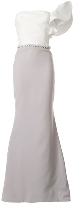 Saiid Kobeisy Ruffled Evening Dress