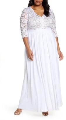 Kiyonna Everlasting Lace Pleated Dress