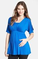 Maternal America Women's Split Sleeve Maternity/nursing Top