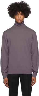 Dries Van Noten Purple Merino Turtleneck
