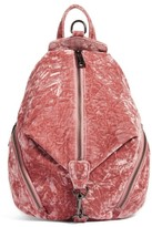 Rebecca Minkoff Medium Julian Velvet Backpack - Pink